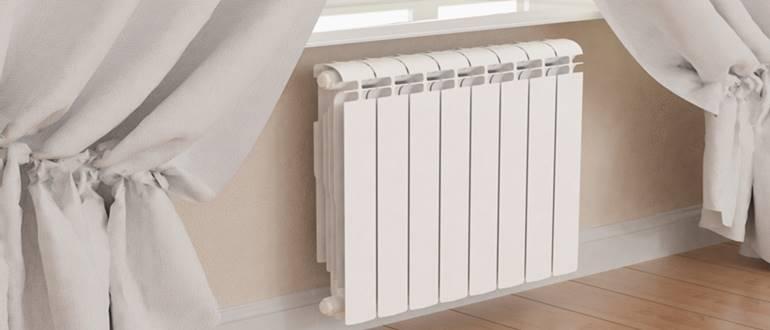 Алюминиевый радиатор секционного типа