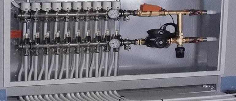 Коллектор лучевой системы отопления