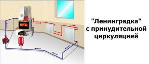 Однотрубная система отопления ленинградка. Схема.