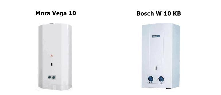 Mora Vega 10 и Bosch W 10 KB