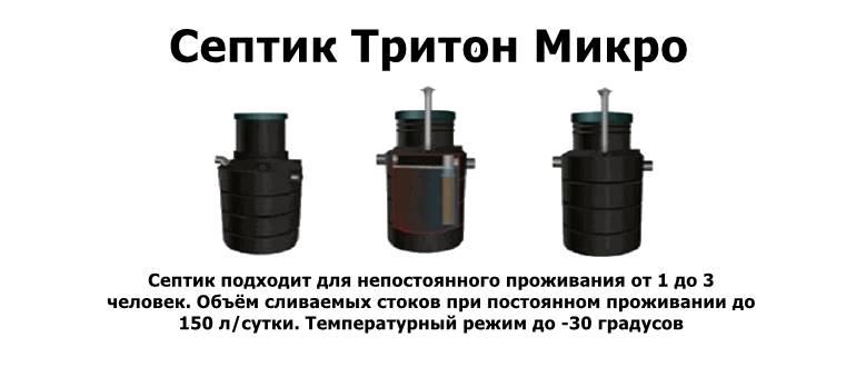 Септик тритон Микро