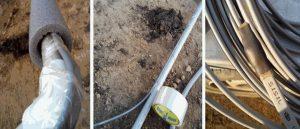 Теплоизоляция греющего кабеля